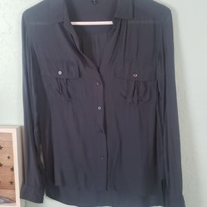 James Perse Los Angeles blouse w pockets